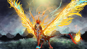 Pheonix- king of flames which out-shine the sun! by Ningeko16