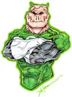 kilowog color by ChrisOzFulton