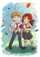 Alan and Gaby by AncelTheWolf