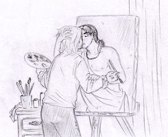 Kiss from the painting EzioxLeo by Ninisu