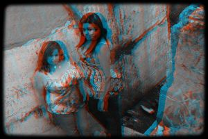 Temptress Shoot Anaglyph 3D II by moonglowdude