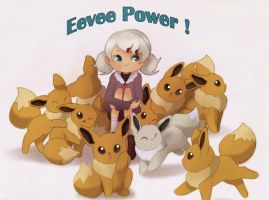 Eevee power by Rozenng