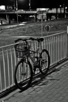Bicycle on a Street by dardaniM