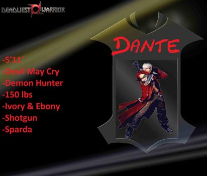 DW Character Poster Ep.1 Dante by doveboyz