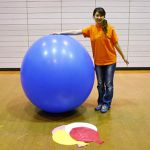 woman posing with 48 inch balloon by billoon45