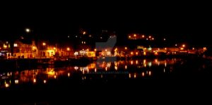 Whitby by dark ( colour edit) by rockgem