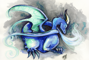 dragon by chid0