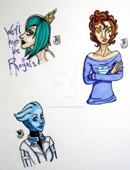 Randomness and Liara by Facelessdemons