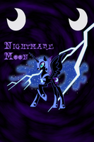 Nightmare Moon Iphone BG by TecknoJock