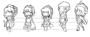 .:Vocaloid OC's Lineart:. by alexpc901
