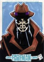 Rorschach PSC Sketch Card by chris-foreman