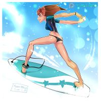 Surfgirl! by Xamrock-ART