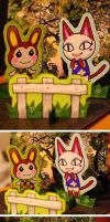 Animal Crossing - Bunnie and Olivia by jawazcript