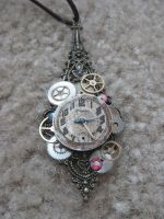 Steampunk Necklace 2 by xxPRECIOUSMOMENTSxx