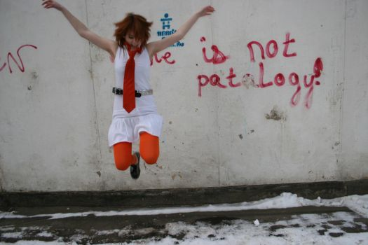 Girl and wall 5 by etniezz-stock