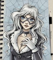 Black Cat (colored) by natalico