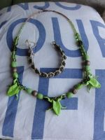 Frog necklace set by were-were-wolfy