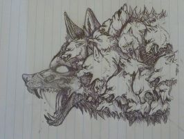 Wolf made out of wolves by NoteS28