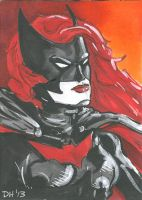Batwoman Sketch Card by Iconograph