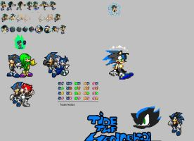 Tide THe hedghog Sprite sheet by Pikachu84