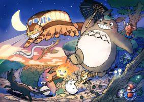 Ghibli: Creatures and monsters by Risachantag