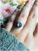 Indian moonstone ring by wakingthewitchnakit