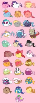 MLP Characters In Fat Version by BubblegumPink101