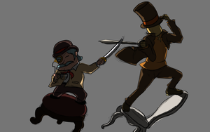 Layton Vs Hattsworth by AlredStoneLowind
