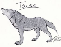 Tsume Commission by HowlingWolfSoul