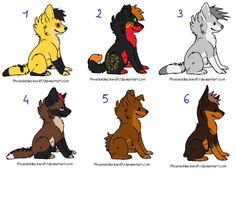 Canine adoptables 2-CLOSED- by Dolphin-Adopt