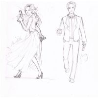 Mr. and Mrs. Jackson LINEART by drinked-ale