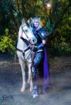 Draenei Death Knight and Horse by CLeigh-Cosplay