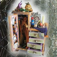 Witch's Closet dollhouse mini by grimdeva