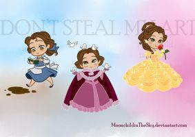 CHIBI BELLE by MoonchildinTheSky