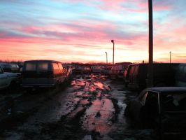 Salvage Yard Sunrise by colts4us