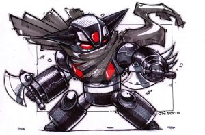 Black Getter Robot by Dve6