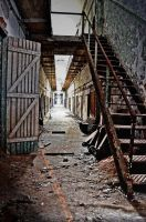 Eastern State Penitentiary - Cell Hallway by PAlisauskas