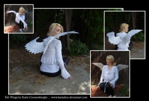 Felt Wings Thin - White Angel by Kamakru