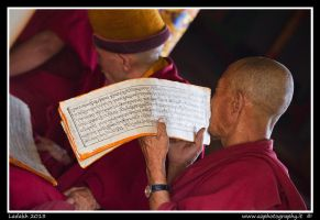 Praying monks by zaffonato