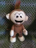 Metal Monkey plushie by desederas