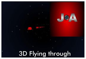 3D Flying Through Space by flashdo