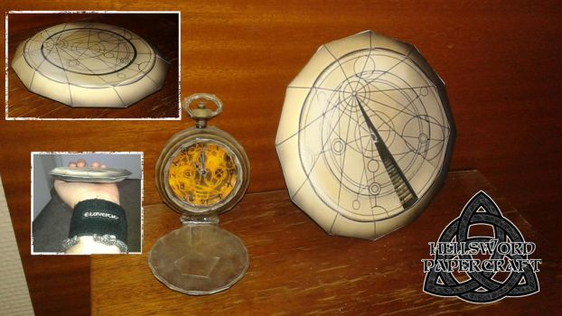 Doctor Who Timelord Confession Dial Papercraft by HellswordPapercraft