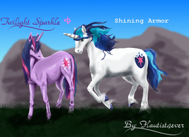 Realistic Twilight Sparkle and Shining Armor by Flautist4ever