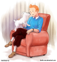 Tintin and Snowy by Kuriko-san