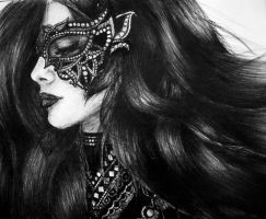 Masked (ballpoint pen drawing) by atahirART