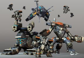 Empire Earth 3 Mechs by Snookiedowork