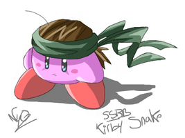 ssbb: kirby snake by Chimykal-girl