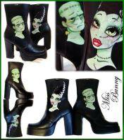 Frankenstein Boots by miss-bunny-shoes