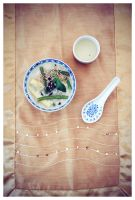 Rice Noodle Soup by DoodleBe