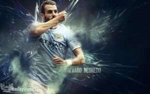 Negredo Wallpaper by ManCityGraphics